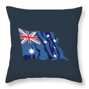 Australia Flag Throw Pillow