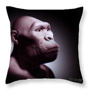 Australopithecus Throw Pillow
