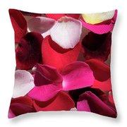 Back Lit Flower Petals 1 Throw Pillow