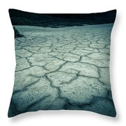 Badwater Basin Death Valley Salt Formations Throw Pillow