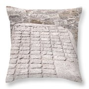 Ball Court At The Coba Ruins  Throw Pillow