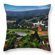 Bavarian Landscape Throw Pillow