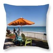 Beachland Boulevard At Vero Beach In Florida Throw Pillow