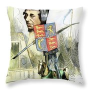 Benjamin Disraeli Throw Pillow