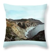 Bixby Creek Bridge Big Sur Photo By Pat Hathaway Throw Pillow