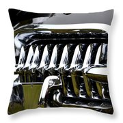 Black Corvette Throw Pillow