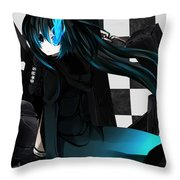 Black Rock Shooter Throw Pillow