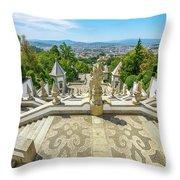 Bom Jesus Staircase Braga Throw Pillow