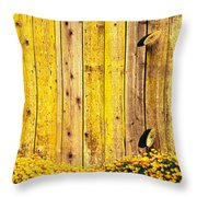 California Golden Poppies Eschscholzia Throw Pillow