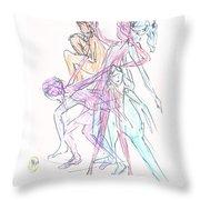 Captured Movements Throw Pillow