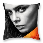 Cara Delevingne Collection Throw Pillow