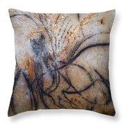 Cave Art: Mammoth Throw Pillow