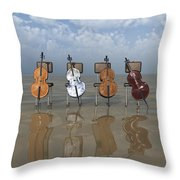 4 Cellos... - 4 Violoncelles... Throw Pillow