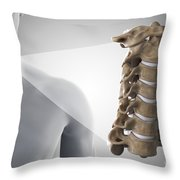 Cervical Vertebrae Throw Pillow