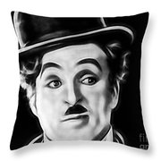 Charlie Chaplin Collection Throw Pillow