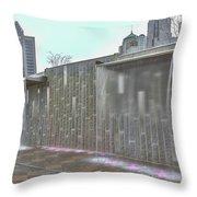 Charlotte Nc Downtown Throw Pillow