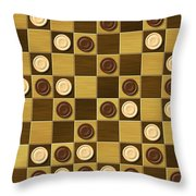 Checkerboard Generated Seamless Texture Throw Pillow