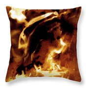Chemical Painting Throw Pillow