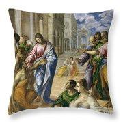 Christ Healing The Blind Throw Pillow