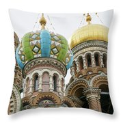Church Of The Savior On Spilled Blood  Throw Pillow