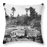 Civil War: Pontoon Bridge Throw Pillow