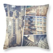 Collage Of Chicago  Throw Pillow