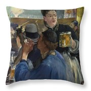 Corner Of A Cafe Concert Throw Pillow