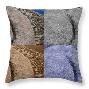 4 Crack Rocks New Mexico Throw Pillow
