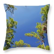 4- Cypress Trees Throw Pillow