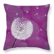 Dandelion Flying Throw Pillow