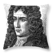 Denis Papin, French Inventor Throw Pillow
