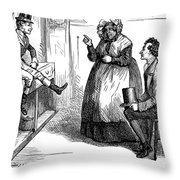 Dickens: Martin Chuzzlewit Throw Pillow