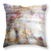 4. Dirty Brown, Red, And White Glaze Painting Throw Pillow