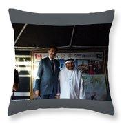 Dubai Travelers Festival Throw Pillow