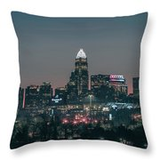 Early Morning In Charlotte Ncorth Carolina January 2018 Throw Pillow