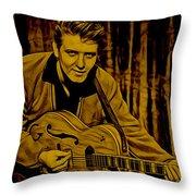 Eddie Cochran Collection Throw Pillow