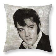 Elvis Presley, Legend  Throw Pillow