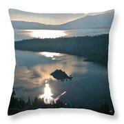 Emerald Bay Lake Tahoe Throw Pillow