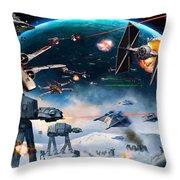 Episode 1 Star Wars Art Throw Pillow