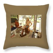 Everglades Cowgirl Throw Pillow