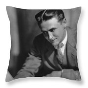 F. Scott Fitzgerald Throw Pillow by Granger