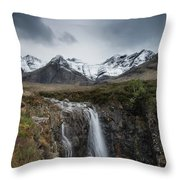 Fairy Pools Of River Brittle Throw Pillow