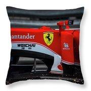 Ferrari Formula 1 Kimi Raikkonen Throw Pillow