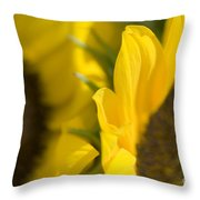 Flower Abstract Throw Pillow
