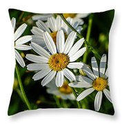 Flower Portrait Throw Pillow