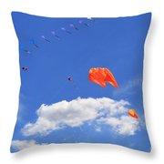 Flying Kite Festival  Throw Pillow