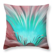 From The Heart Of A Flower Throw Pillow