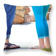 Girlfriends. Throw Pillow