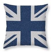 Great Britain Denim Flag Throw Pillow