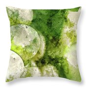 Green Grapes Close Up In Napa Valley Ready To Be Made Into Wine Throw Pillow